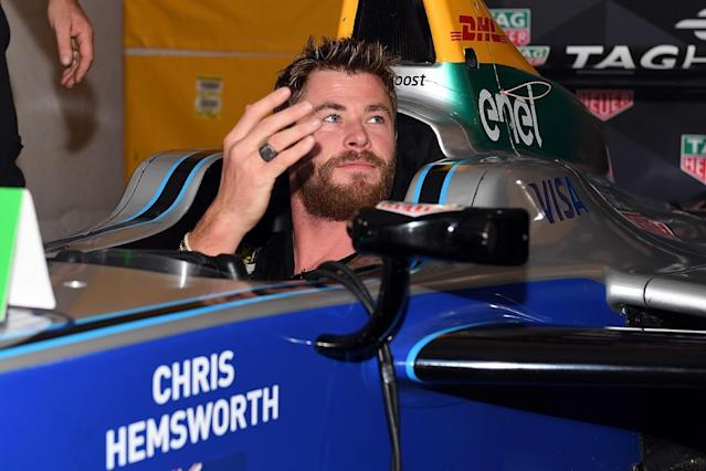 Hunt actor Hemsworth to start Indy 500
