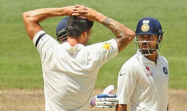 Mitchell Johnson and Virat Kohli were not the best of friends during the 2014-15 series