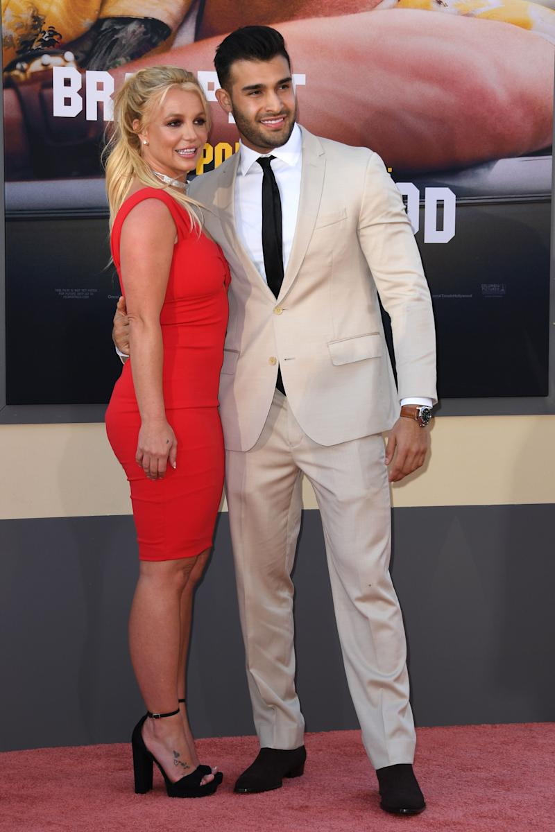 Britney und ihr Partner, Sam Asghari, bei der Premiere von Once Upon a Time... in Hollywood am 22. Juli 2019 in L.A. Foto: Getty Images.