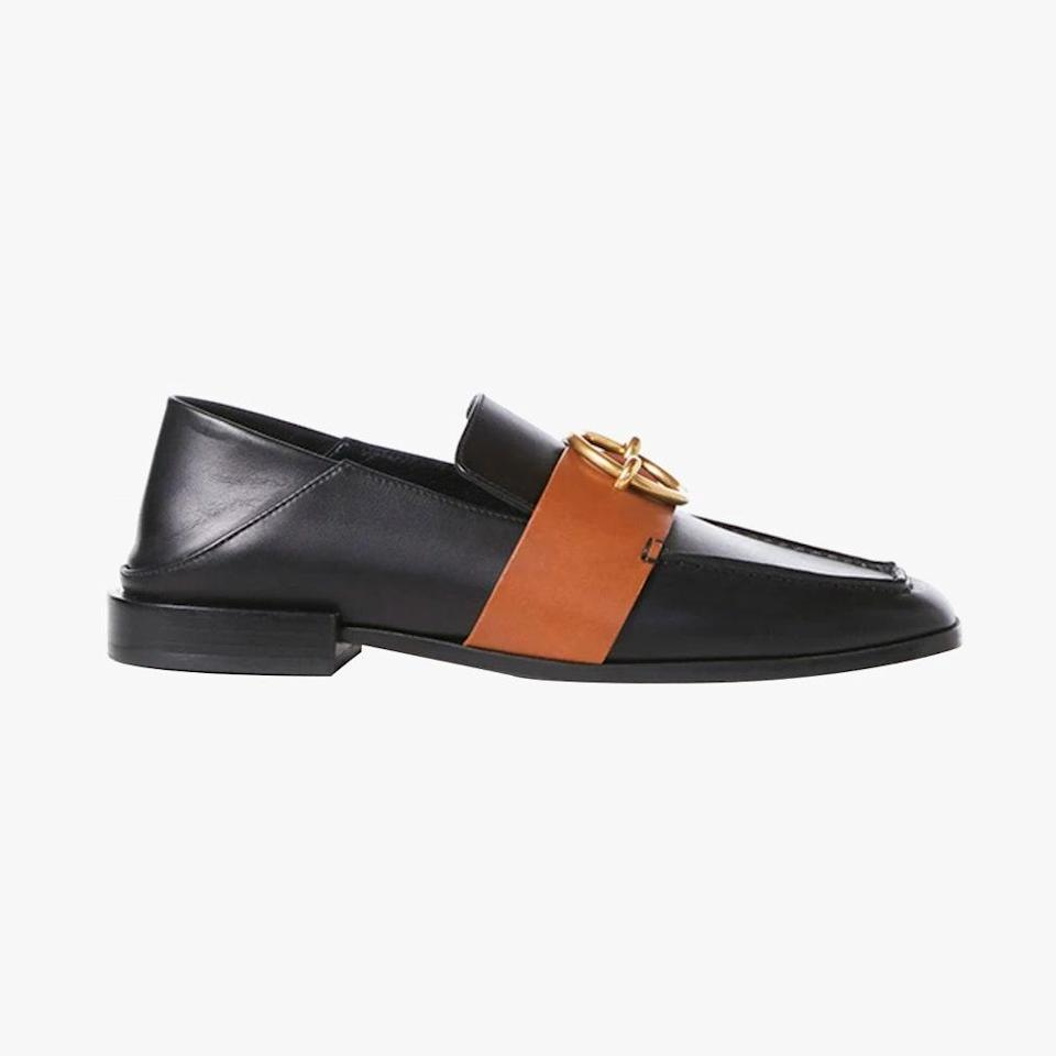 """Frame's new loafers can also be worn folded down as a mule. These sleek shoes will look great with anything from dresses to jeans. $478, FRAME. <a href=""""https://frame-store.com/collections/shoes/products/le-montecito-loafer-noir-multi"""" rel=""""nofollow noopener"""" target=""""_blank"""" data-ylk=""""slk:Get it now!"""" class=""""link rapid-noclick-resp"""">Get it now!</a>"""