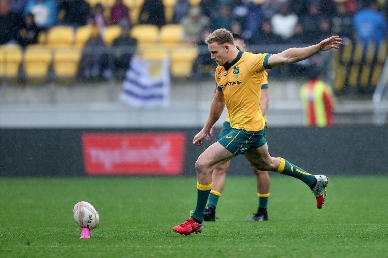 Reece Hodge comes in as a makeshift fly-half for the Wallabies