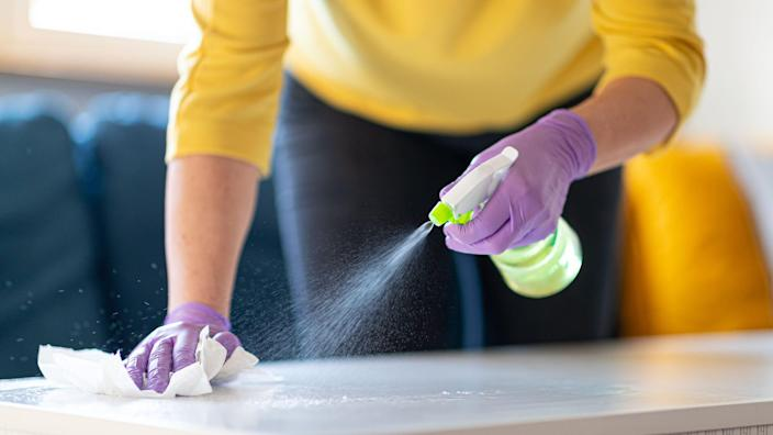 Stock up on cleaning supplies to save.