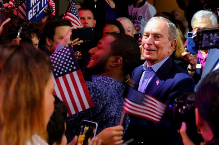 Democratic U.S. presidential candidate Michael Bloomberg's Super Tuesday night rally in West Palm Beach