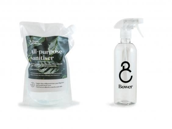 To minimise waste, try using eco-friendly refillable cleaning products (Bower Collective)