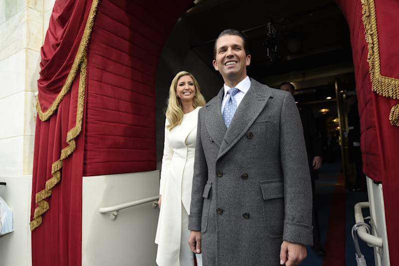 Ivanka and Donald Trump, Jr.arrive for the Presidential Inauguration of Trump at the U.S. Capitol in Washington, D.C., U.S., January 20, 2017. (POOL New / Reuters)