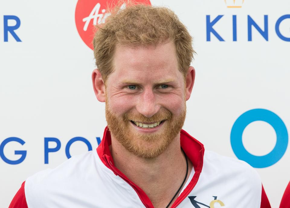 WOKINGHAM, ENGLAND - JULY 10:  Prince Harry, Duke of Sussex attends The King Power Royal Charity Polo Day at Billingbear Polo Club on July 10, 2019 in Wokingham, England. (Photo by Samir Hussein/WireImage)