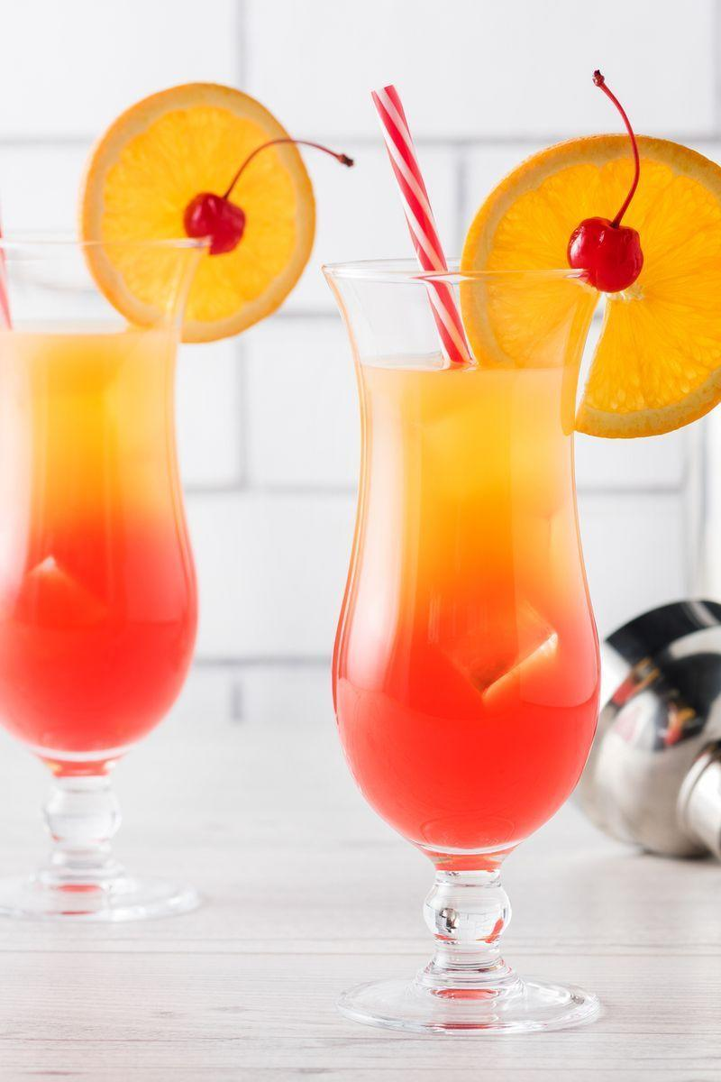 "<p>A Tequila Sunrise is a fruity <a href=""https://www.delish.com/uk/cocktails-drinks/"" rel=""nofollow noopener"" target=""_blank"" data-ylk=""slk:cocktail"" class=""link rapid-noclick-resp"">cocktail</a> made using tequila, orange juice and grenadine syrup. It was apparently invented in the 1970s in California and got its name because its colours mimic those of a pretty sunrise sky, cute!</p><p>Get the <a href=""https://www.delish.com/uk/cocktails-drinks/a30928261/tequila-sunrise/"" rel=""nofollow noopener"" target=""_blank"" data-ylk=""slk:Tequila Sunrise"" class=""link rapid-noclick-resp"">Tequila Sunrise</a> recipe.</p>"