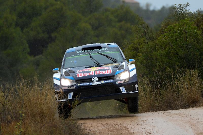 Sebastien Ogier and co-driver Julien Ingrassia compete in the Rally de Catalunya in Caseres, near Tarragona on October 14, 2016