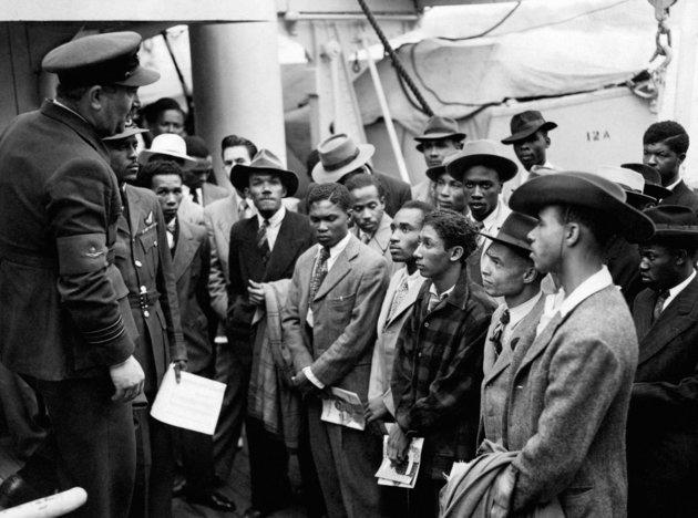 Jamaican immigrants welcomed by RAF officials from the Colonial Office after the ex-troopship HMT Empire Windrush landed them at Tilbury, Essex in 1948 (archive photo).
