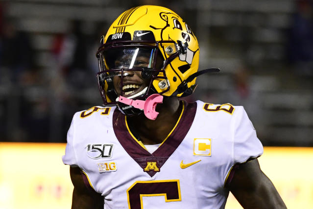 Minnesota WR Tyler Johnson isn't a speed merchant, but he's been highly productive. (Getty Images)