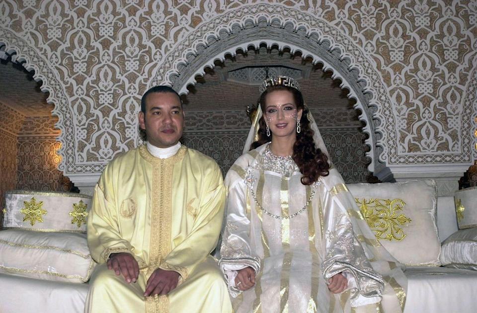 <p>Elsewhere in the world during the beginning of the new millennium, another monarchy signaled a progressive break away from tradition by way of royal marriage: this time in Morocco. Princess Lalla Salma became the first wife of a Moroccan ruler to be publicly acknowledged and given a title. The engineer-turned-Queen dressed in a lavish caftan, the traditional Moroccan dress.</p>