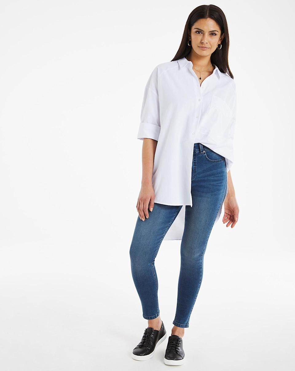 24/7 Vintage Blue Skinny Jeans made with Organic Cotton (JD Williams)
