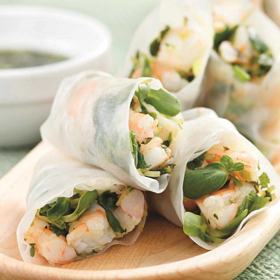 <p>This sophisticated-looking shrimp summer roll recipe is surprisingly easy to make and makes a great party appetizer or first course. Look for rice-paper wrappers--translucent round sheets made from rice flour--in the Asian section of large supermarkets or at Asian food stores.</p>