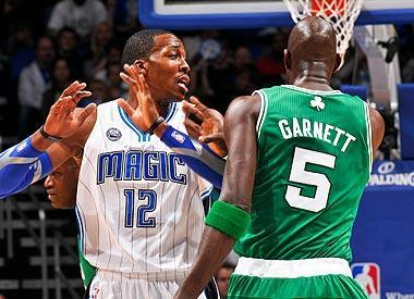Dwight Howard thinks officials give his opponents – like Kevin Garnett – more freedom to foul him hard because of his size and physicality