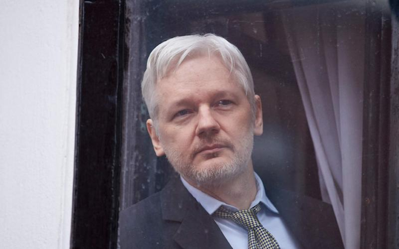 This file photo taken on February 05, 2016 shows WikiLeaks founder Julian Assange