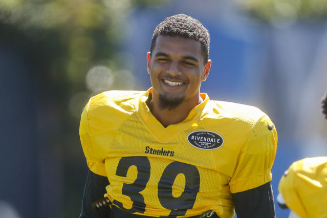 Pittsburgh Steelers safety Minkah Fitzpatrick made some big plays in his Steelers debut. (AP)