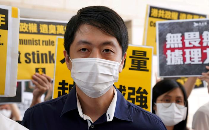 Former pro-democracy lawmaker Ted Hui Chi-fung is currently living in exile - Lam Yik/Reuters