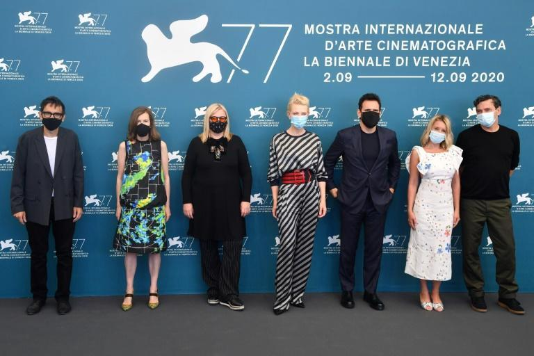 The film festival's masked jury