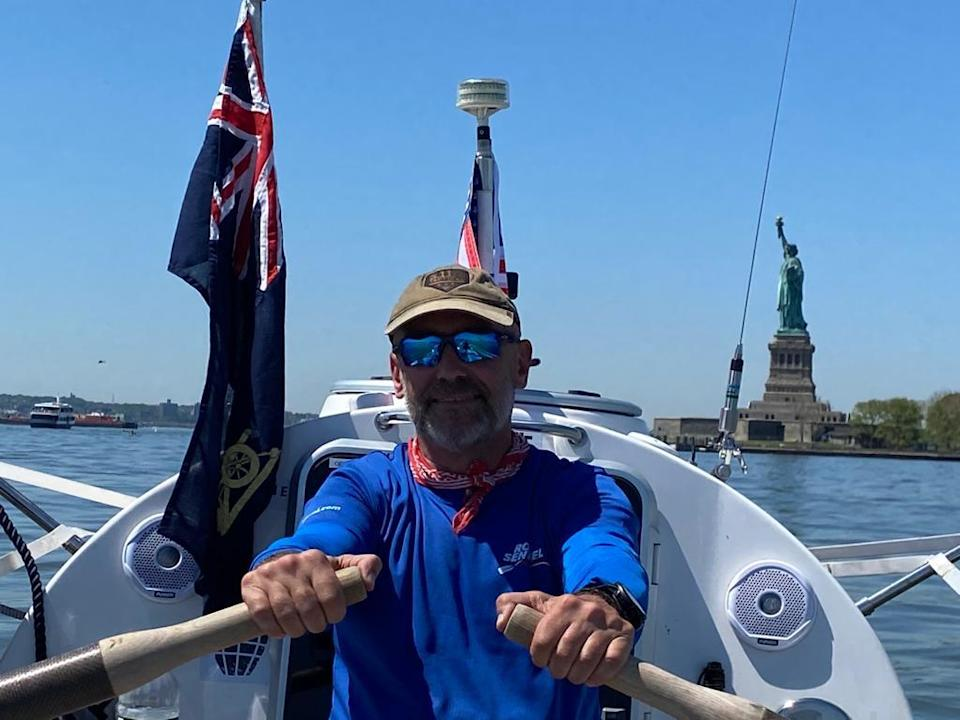 Ian Rivers left New York in May to row across the Atlantic unsupported (Ian Rivers/PA).
