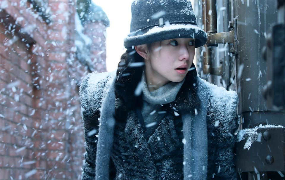 Liu Haocun as Lan in Zhang Yimou's Cliff Walkers. (Still courtesy of Golden Village Pictures)