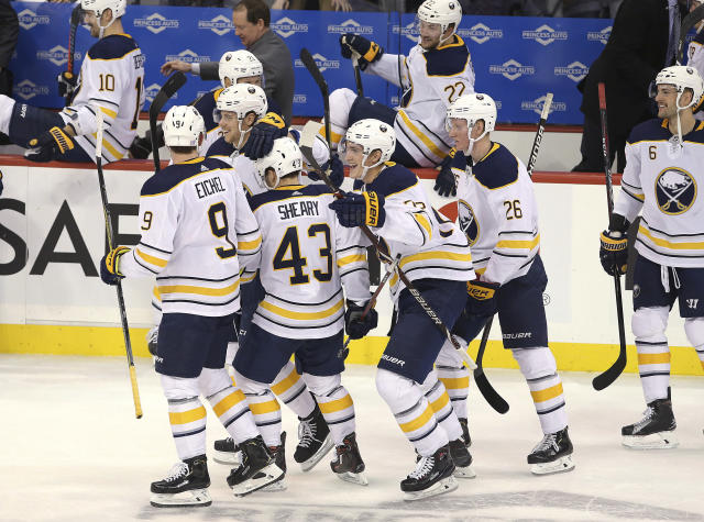 huge discount 35b27 f7562 Sheary scores in 7th round of shootout, Sabres beat Jets 2-1