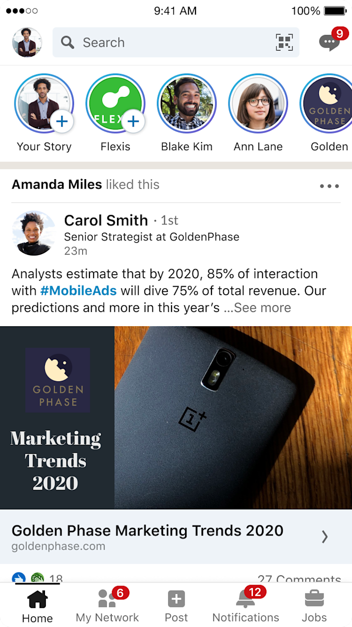 LinkedIn added Stories to its lineup.
