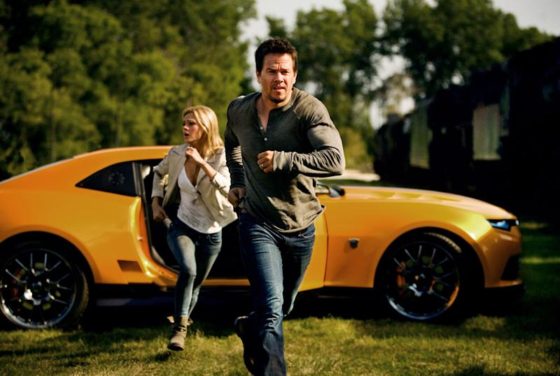Petzl and Wahlberg in Age of Extinction (Credit: Paramount)