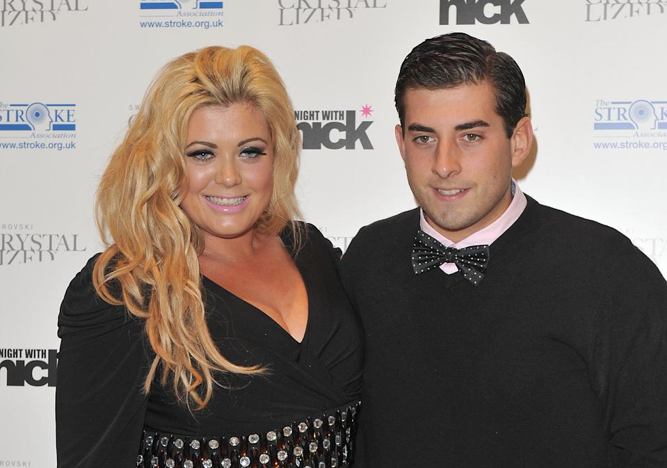 LONDON, ENGLAND - DECEMBER 06: Gemma Collins and James Argent attend 'A Night With Nicke Ede' at Swarovski Crystallized on December 6, 2011 in London, England. (Photo by Ferdaus Shamim/WireImage)