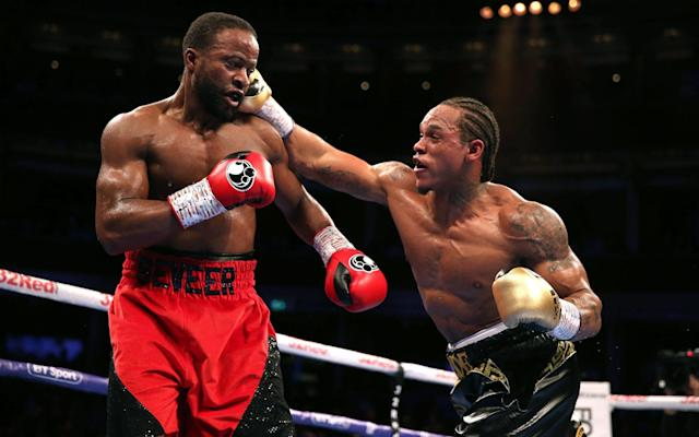 Anthony Yarde extends his unbeaten streak to 18 by stopping Travis Reeves at the Royal Albert Hall - PA
