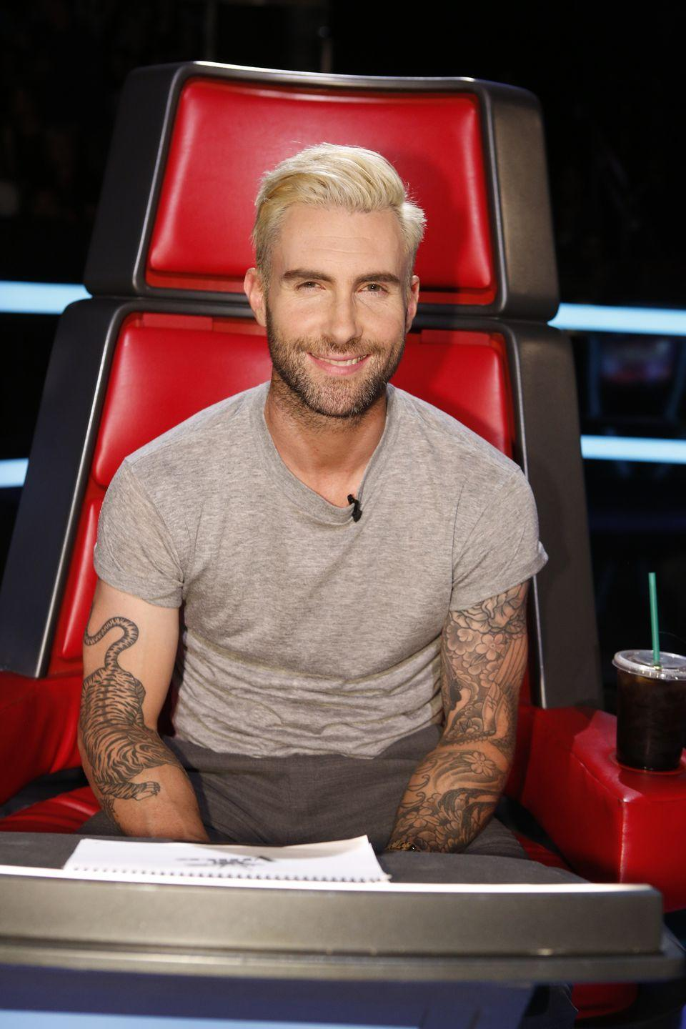 <p><strong>Blonde</strong></p><p>While the platinum blond hue might seem to be a unique statement for the singer, when combined with his shorter haircut, it makes sense why fans swoon over him. </p>