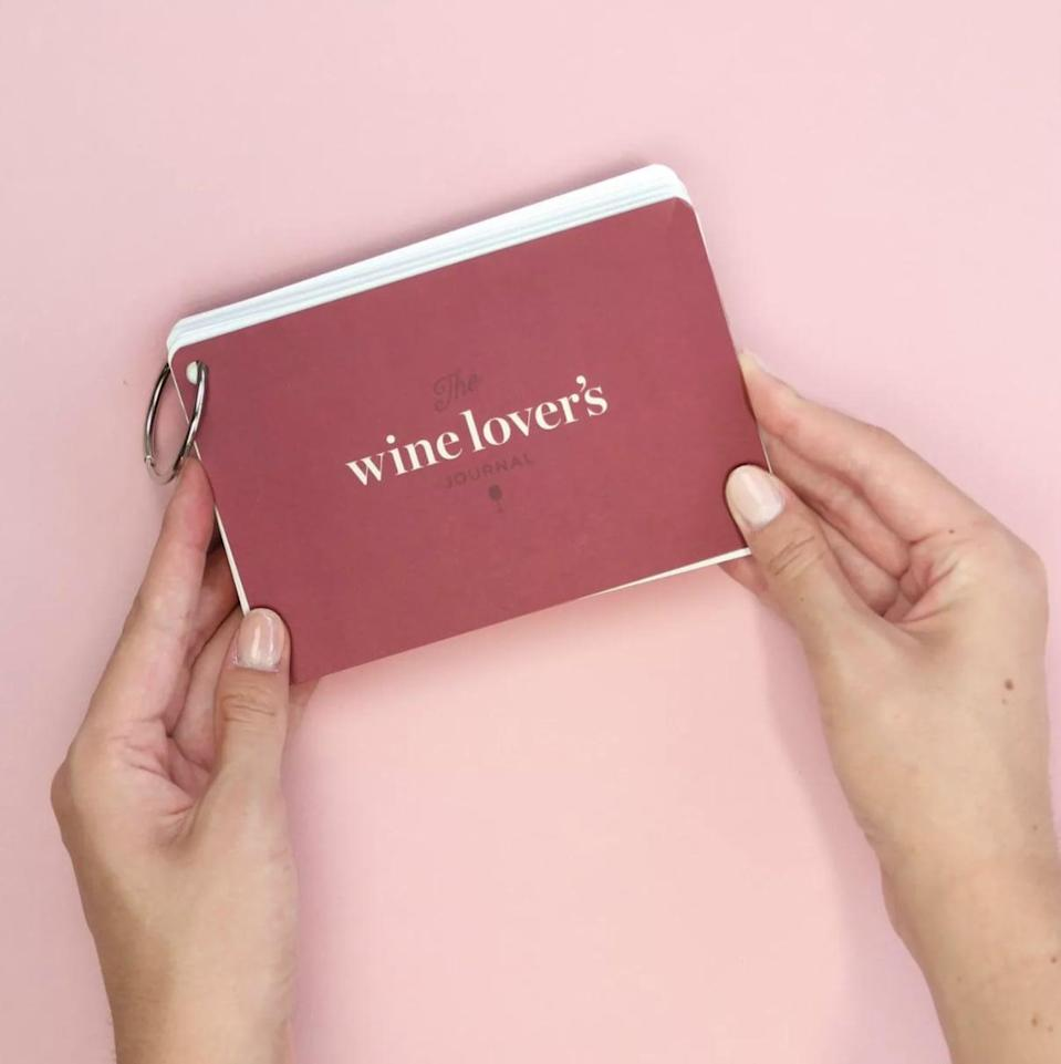 <p>Help them keep track of their favorite wines with <span>The Wine Lover's Journal</span> ($34)</p>