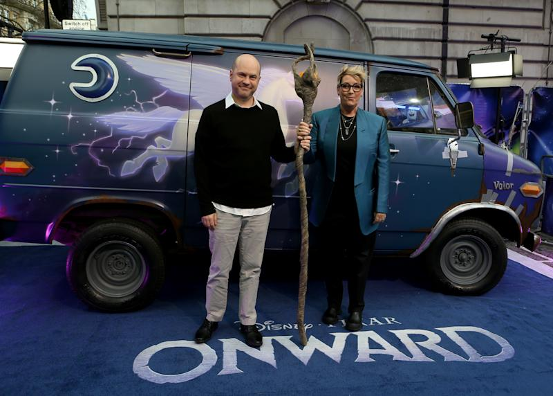 Dan Scanlon and Kori Rae arriving at the UK premiere of 'Onward' at the Curzon Mayfair in London. (Photo by Lauren Hurley/PA Images via Getty Images)