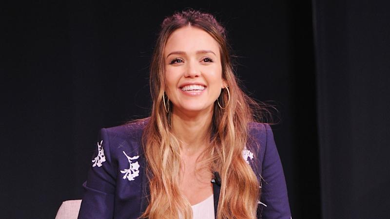 Jessica Alba Shares Pic of Herself Breastfeeding Son Hayes in Dressing Room