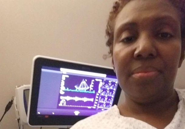 PHOTO: Carletha Cephas during a hormone therapy appointment in Los Angeles, Calif., in December 2018. (Courtesy Carletha Cephas)