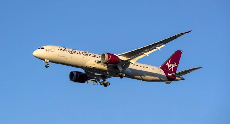 A Virgin Atlantic flight narrowly avoided two drones when it landed at London's Heathrow Airport. Source: Getty