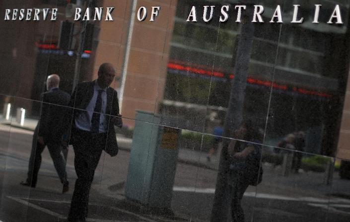 The Reserve Bank of Australia on Tuesday slashed the interest rate by 25 basis points to a new record-low of 2.0% to stimulate growth (AFP Photo/Saeed Khan)