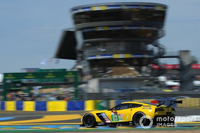 "#63 Corvette Racing, Chevrolet Corvette C7.R: Jan Magnussen, Antonio Garcia, Mike Rockenfeller <span class=""copyright"">JEP / Motorsport Images</span>"