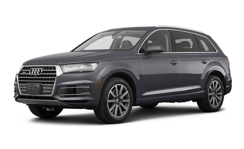 """<p><strong>Highs:</strong> Remarkable ride quality, handsome cabin design, three-row flexibility.</p><p><strong>Lows:</strong> Weak four-cylinder engine, cramped third row, middling fuel economy.</p><p><a class=""""body-btn-link"""" href=""""https://www.caranddriver.com/audi/q7"""" target=""""_blank"""">Review, Pricing, and Specs</a></p>"""