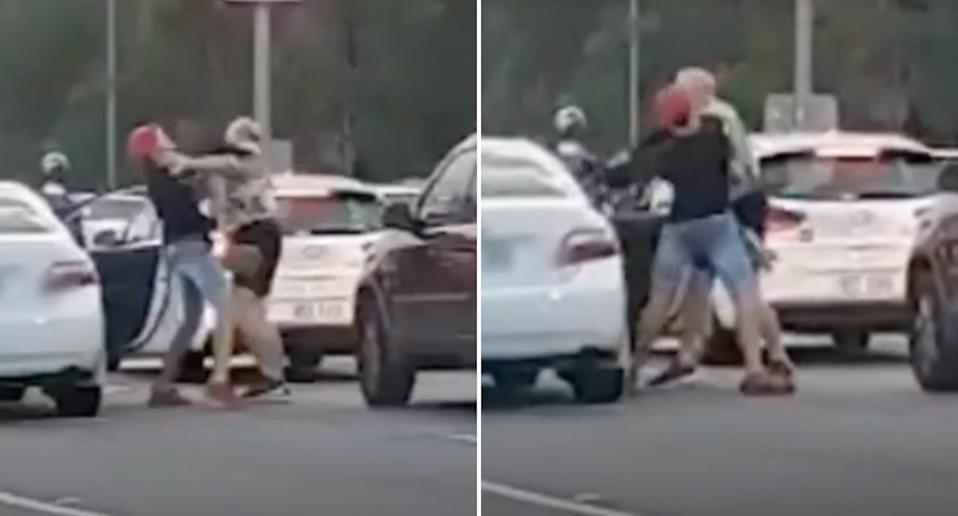 A road rage incident in Queensland between a 23-year-old man and a 67-year-old man