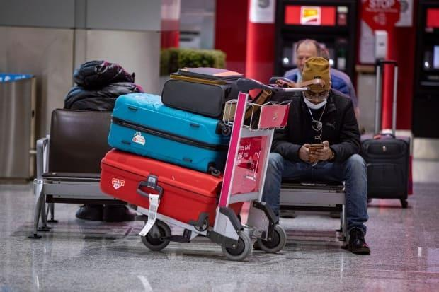 Travellers arriving at Toronto Pearson airport will be split into two queues depending on their vaccination status. (Evan Mitsui/CBC - image credit)