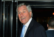 FILE - In this Oct 26, 2013 file photo, England's goalkeeping coach Ray Clemence poses for a photo during an event. Ray Clemence, the former Liverpool, Tottenham and England goalkeeper, has died. He was 72. The Football Association confirmed the news Sunday, Nov. 15, 2020 without giving a cause of death. (Leon Neal/PA via AP, File)