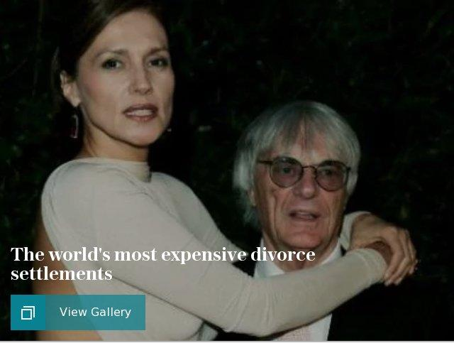 The world's most expensive divorce settlements
