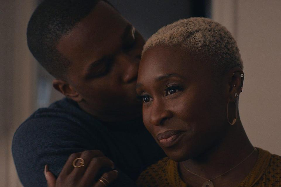 """Nick (Leslie Odom Jr.) and Janine (Cynthia Erivo) are a couple living in married bliss until Janine's ex-husband warps time to try to tear them apart using Nick's college girlfriend in """"Needle in a Timestack."""""""
