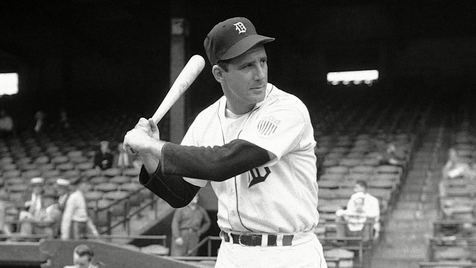 Mandatory Credit: Photo by Anonymous/AP/Shutterstock (6661783a)Hank Greenberg Hank Greenberg, Detroit of Tigers onHank Greenberg Posed Action, Detroit, USA.