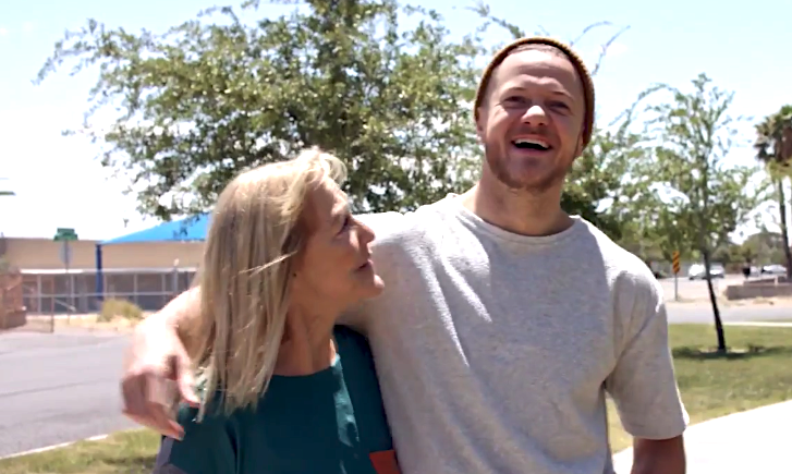 Imagine Dragons singer Dan Reynolds with his mom Christene in 'From Cradle to Stage.' (Photo: Paramount+)