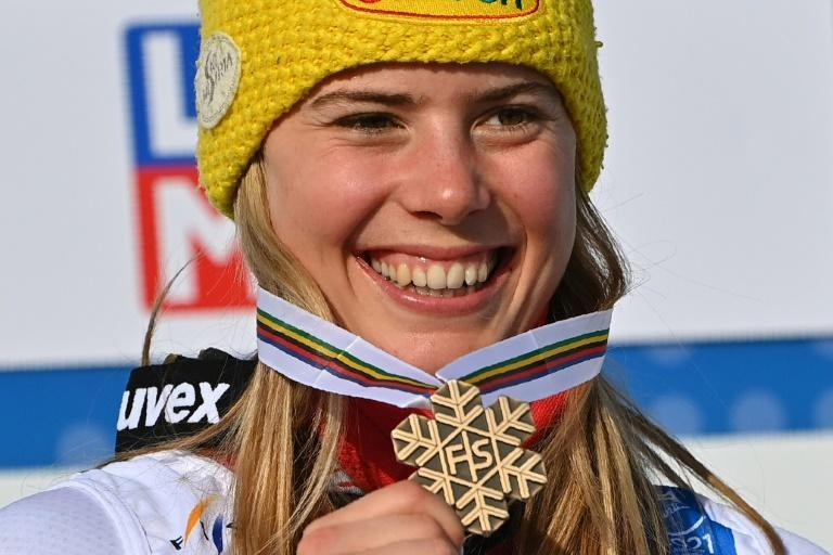 Austrian Katharina Liensberger is 'super happy' with her world championships