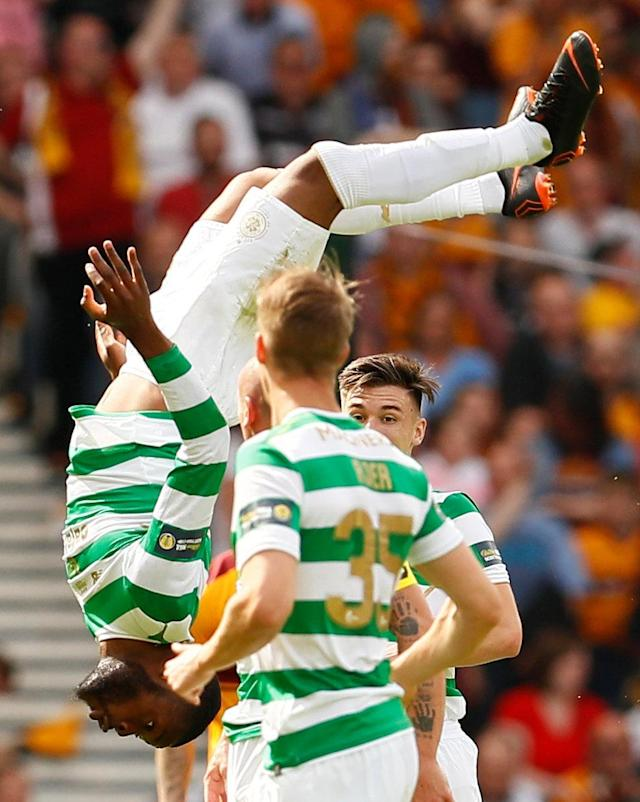 Soccer Football - Scottish Cup Final - Celtic vs Motherwell - Hampden Park, Glasgow, Britain - May 19, 2018 Celtic's Olivier Ntcham celebrates scoring their second goal Action Images via Reuters/Jason Cairnduff