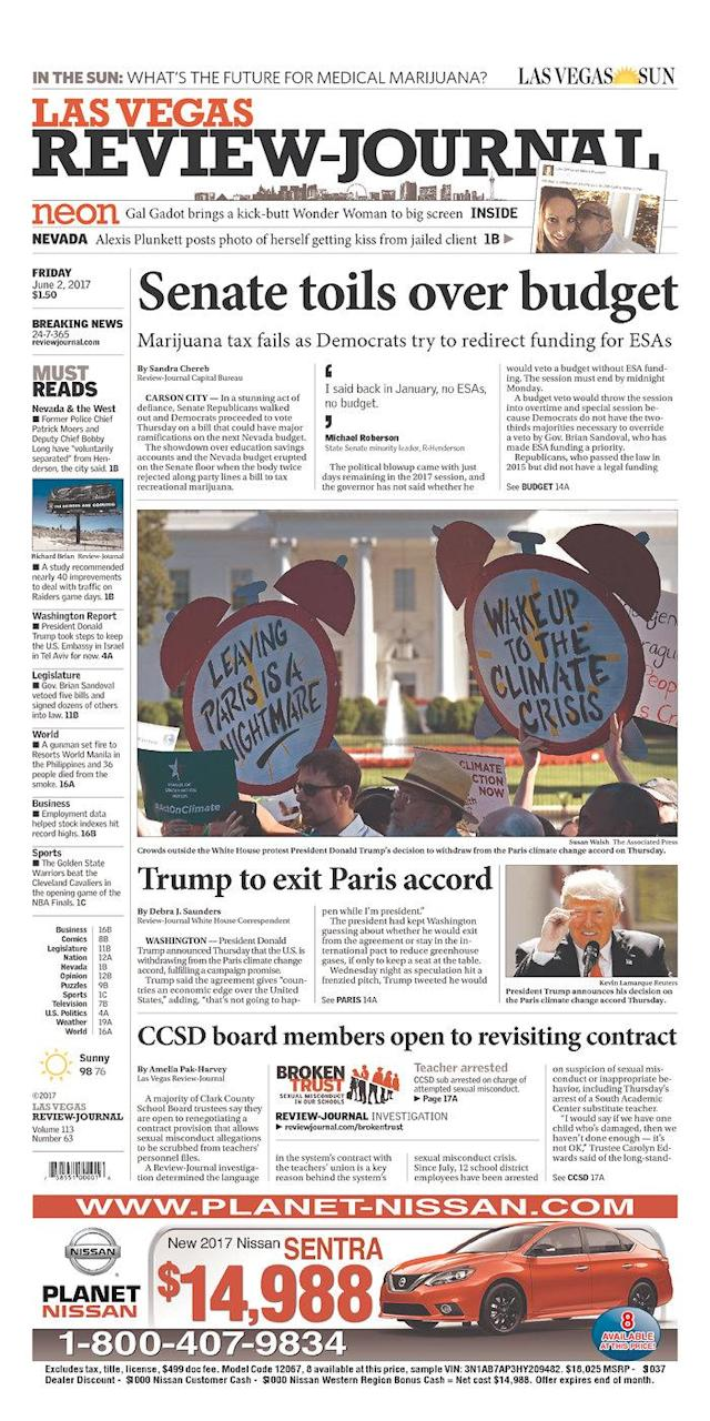 "<p>""Las Vegas Review-Journal,"" published in Las Vegas, Nev. (Newseum) </p>"