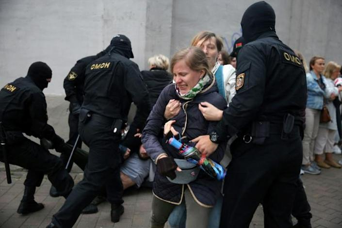 Belarusian police have responded to protests with a harsh crackdown
