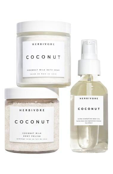 <p>The <span>Herbivore Coconut Love Body Ritual Kit</span> ($35) is a must have for those who love relaxing, at-home spa days and coconuts. It pairs well with a piña colada. </p>